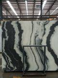 Mattonelle di marmo bianche del panda per la pavimentazione o la parete/mattonelle di marmo bianche