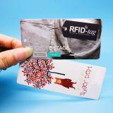 カスタム符号化および印刷ALN9662 UHFの服装RFIDのこつの札