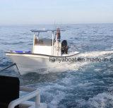 Barco da fibra de vidro dos barcos 90HP do Panga da casca da fibra de vidro de Liya 7.6m