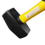 4lb de acero al carbono forjado Martillo Club de la lapidación de martillo con mango de fibra de vidrio.