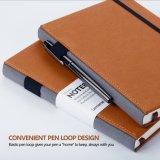 ペンのループA5が付いている厚く標準的なノートはポケットによって広くハードカバーの執筆ノートを支配した