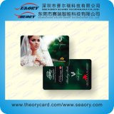 Cartão plástico do PVC da freqüência ultraelevada RFID do Hf do Lf com listra magnética