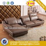 3 asientos de cuero de diseño clásico salón sofá del Ocio (HX-SN029)