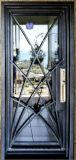 Gewölbte bearbeitetes Eisen-französisches doppeltes vorderes Eintrag-Tür-Eisen-Außentüren (EI-014)