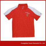 Breve fornitore personalizzato delle camice del collare di sport del manicotto (P33)