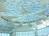Tela da membrana da estrutura da tensão da fibra de vidro do Teflon de PTFE para a membrana da arquitetura