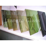 Vetro dentellare verde blu nero di colore/vetro decorativo tinto del vetro float/costruzione