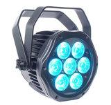 la mini PARITÀ di 7*15W IP65 DMX LED può per la cerimonia nuziale