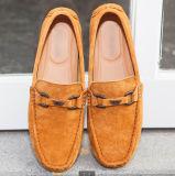 Loafer людей вскользь плоский кожаный обувает ботинки отдыха комфорта