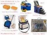 Sacchetto termico del pranzo del ghiaccio di rotolamento isolato carrello di picnic della rotella più fredda del sacchetto