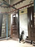 Stahlnotausgang mit der doppelten Tür, bunt