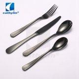 Premium Cuillère en acier inoxydable couteau couverts de fourche avec la couleur noire