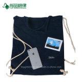 カスタム高品質純粋なカラー二重層のビロードのポケット、バックパック、ドローストリング袋