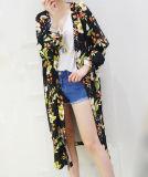 Оптовое цветастое пальто солнцезащитный крем Длинн-Типа