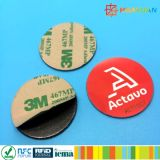 Kundenspezifische kleine Papier NTAG213 NFC Aufklebermarke des Kennsatzes 3m RFID