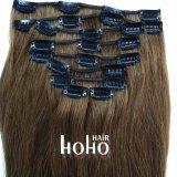 Brown superiore una clip da 20 pollici nell'estensione dei capelli umani nell'insieme