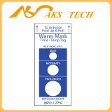 Indicador de tiempo ascendente de la temperatura de Warmmark del conjunto de tiempo-temperatura de la etiqueta