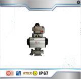 Edelstahl-heißer Verkaufs-pneumatischer Stellzylinder