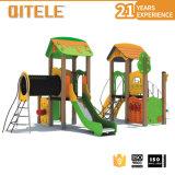 Glissière extérieure de cour de jeu d'enfants de matériel de cour de jeu avec le HDPE (PE-22201)