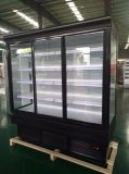 Refrigerador da bebida do refrigerador da porta deslizante