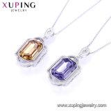 44334 COLOR Rodio Xuping Collar chapado en oro, los cristales de Swarovski Diamante americana