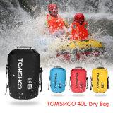 40L乾燥した袋の走行のいかだで運ぶ循環のカヤックを漕ぐキャンプのための屋外の防水水泳袋記憶袋の上昇袋
