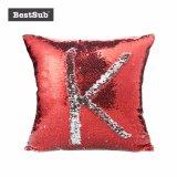 Sublimation-Kippensequin-Kissen-Deckel (rot mit Silber)