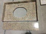 De zachte Gele Bovenkant van Countertop&Vanity van de Keuken van het Graniet