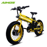 [48ف] [14.5ه] مدينة أخضر 20 بوصة ضعف محرّك إطار العجلة سمين درّاجة كهربائيّة