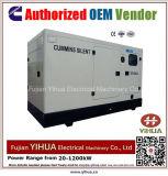 генератор 75kw/94kVA 50Hz молчком тепловозный приведенный в действие Cummins Engine-20171017e