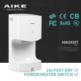 Certificado del GS la mayoría del secador de alta velocidad de la mano del tocador del aire del jet de Eco del ABS del sensor infrarrojo automático ahorro de energía de la carrocería (AK2630T)