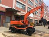 El chino Brand-New Hot-Selling Excavadoras de ruedas 7ton para la venta