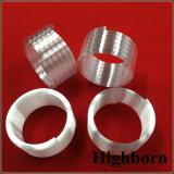 Personalizar el tubo de cuarzo helicoidal de color blanco lechoso