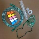 Maschera di ossigeno dello Multi-Sfiato del PVC dei prodotti medici/mascherina mediche a gettare Venturi con 5 Diluters