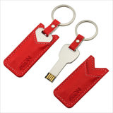 Azionamento chiave dell'istantaneo del USB del metallo con il caso di cuoio (YT-3213-03)