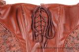 Reizvoller Frauen-Großhandelsreißverschluss-gotisches ledernes volles Bodysuit-Partei-Kleid