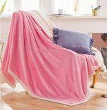 軽量の投球のビロード毛布の珊瑚の羊毛毛布