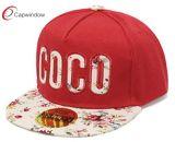 Snapback noir personnalisé Capwindow Hat avec Golden broderie 3D