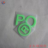 3D de transferencia de calor de caucho de silicona de ropa de etiqueta con Logo levantada