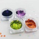 Квадратный яркий блеск лазера для искусствоа ногтя и упаковки Kg цветов серии 12 цвета перлы красотки ногтя