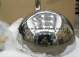 25mm 30mm 40mm Spiegel-goldene oder kupferne halbe hohle Stahlpolierkugel mit Stärke 0.5mm