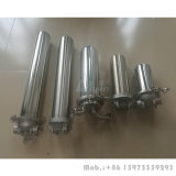単段10 20 30 5ミクロン水フィルターが付いている40インチ水フィルターハウジングのステンレス鋼水フィルターハウジング
