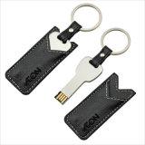 금속 가죽 케이스 (YT-3213-03)를 가진 중요한 USB 섬광 드라이브