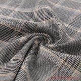 Quatre fils teints mixte Plaid polyester Tissu de rayonne pour dames