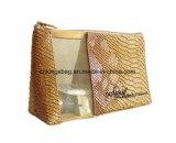ثعبان أسلوب [بفك] رفاهية سيئات مستحضر تجميل حقيبة, بنية حقائب مع شبكة نافذة