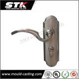 Рукоятка входа сплава цинка никеля сатинировки с плитой (Z1008)