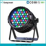 단계 점화 54X3w RGBW 4in1 LED 방수 동위는 할 수 있다