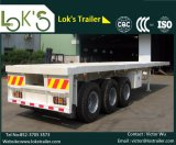 Semi-Trailer Flatbed 3axles de 20FT (manufaturado em China)