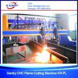 탄소 강철 미사일구조물 CNC 플라스마와 산소 가스 절단 기계