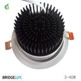 30W 140mm 구멍 크기를 가진 알루미늄 주거 옥수수 속 LED에 의하여 중단되는 Downlight